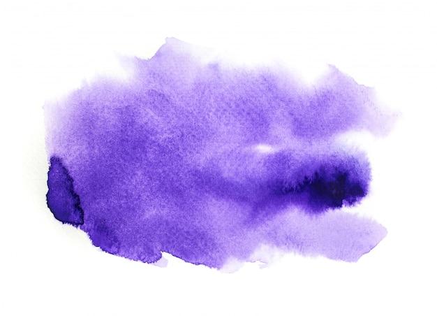 紫色の水彩画の背景。アートハンドペイント