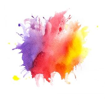 水彩画の背景。アートハンドペイント
