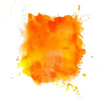 オレンジ色の水彩画の背景。