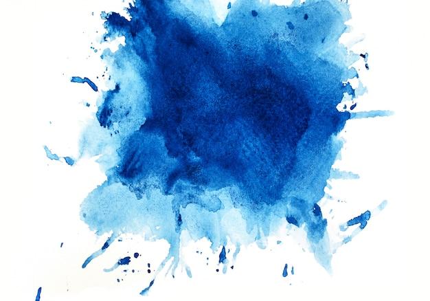 青い水彩背景。