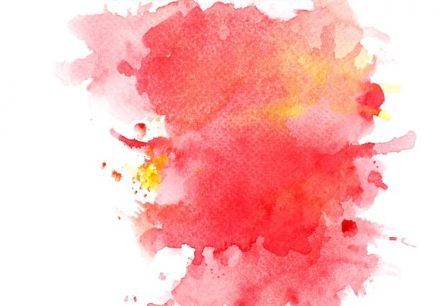 赤い水彩背景。