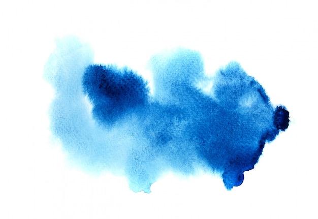 Синий акварельный фон.