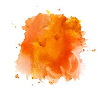 オレンジ色の水彩背景。