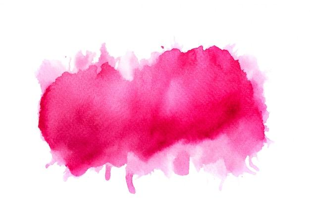Розовый акварельный фон. художественная ручная краска