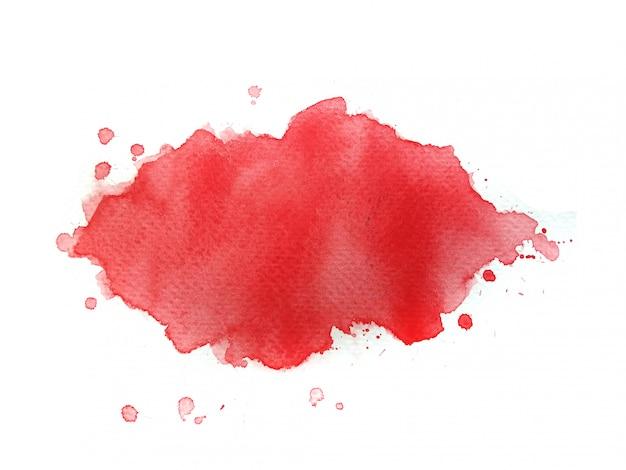 Красный акварельный фон.