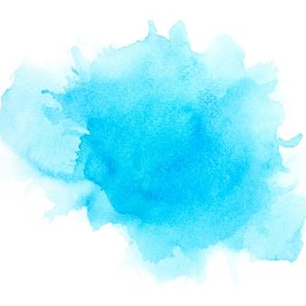 紙の上の青い水彩画。