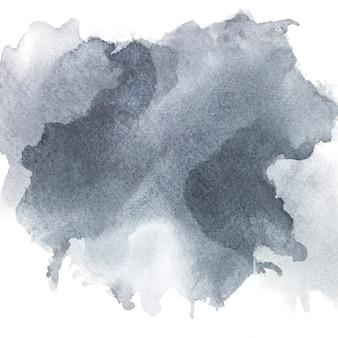 紙の上の灰色の水彩画。