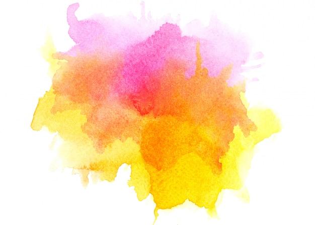 黄色の水彩画の背景。