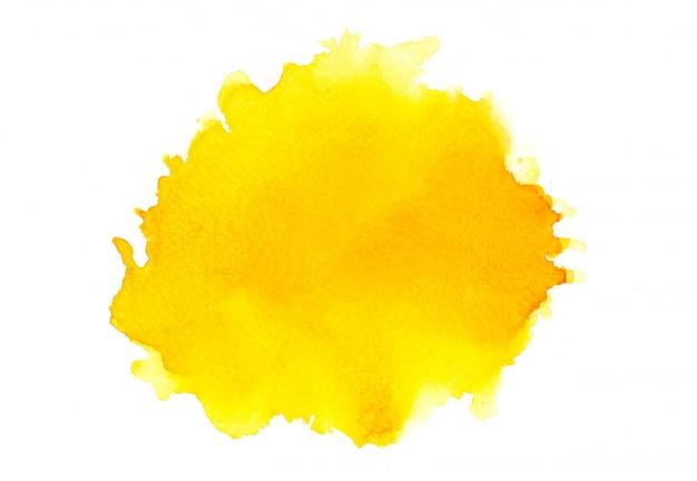 影の黄色の水彩画。イメージ