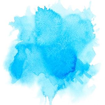 青い水彩画の背景。