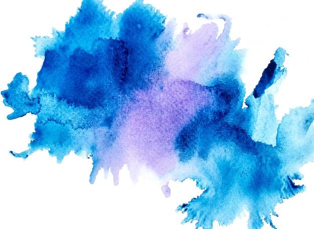 青い水彩画。