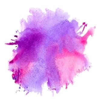 紫の水彩画。
