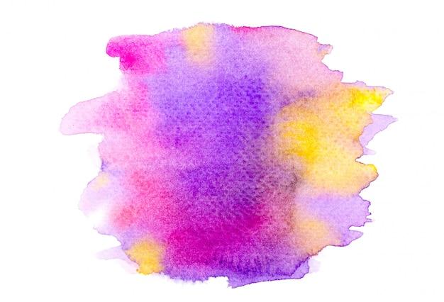 紫の水彩画。クリエイティブ画像