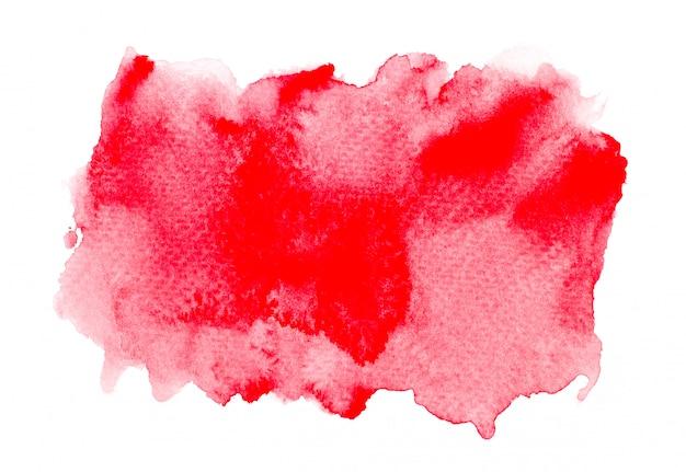 赤の抽象的な水彩画の背景。