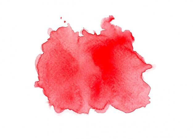 赤い水彩画の色合い。