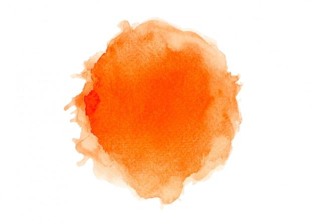 オレンジ色の水彩画をブラシします。
