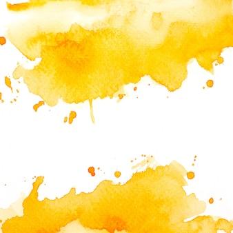 スプラッシュ黄色の水彩画。