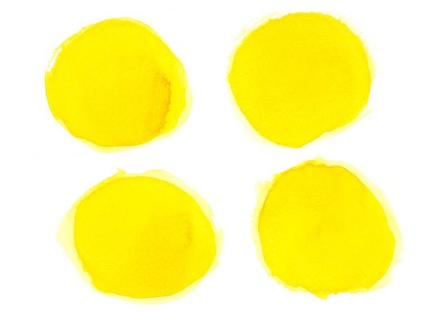黄色の水彩画を描いた。