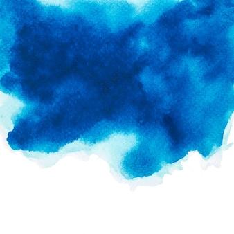 Цвет синий акварель. изображение