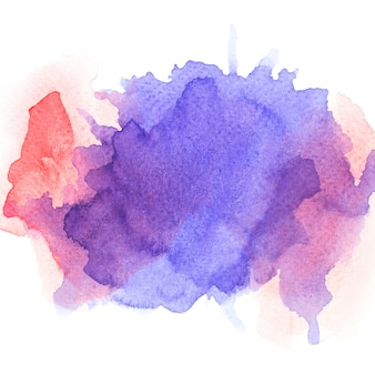 色紫色の水彩画。