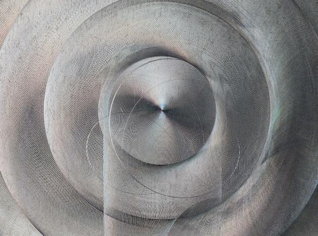 ブラシをかけられた金属の質感。抽象的な面白い、異型、不規則な非典型的な円形