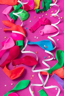 お祝いや装飾のためのお祭りの背景装飾的組成物材料。