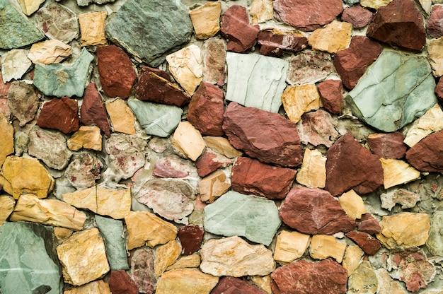 路上敷設のテクスチャ人造石造り壁の装飾