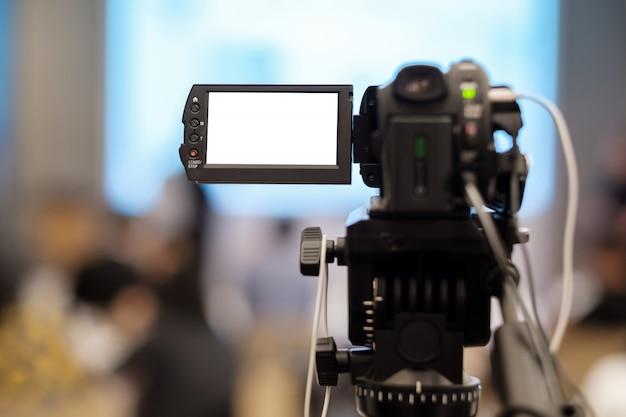 セミナーでビデオを録画する。