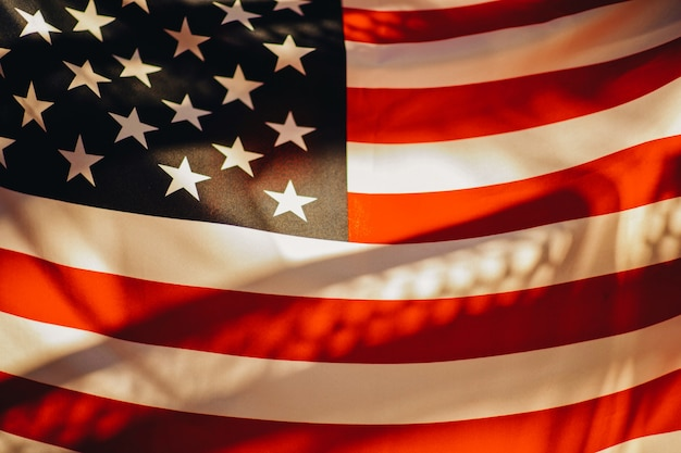 Американский флаг.