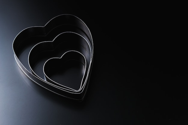 Тесторезка в форме сердца