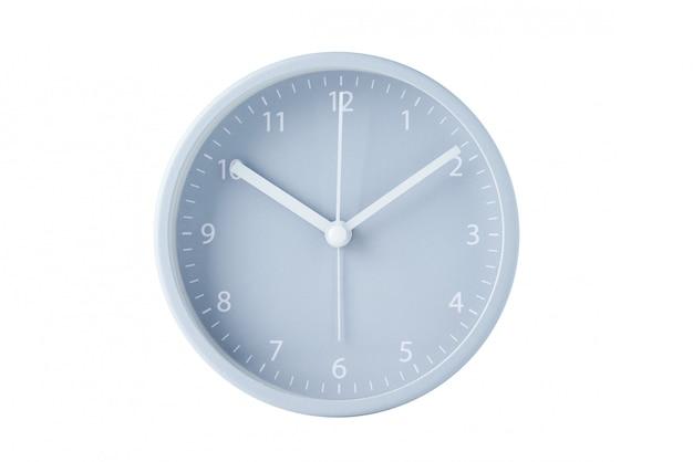 グレーのクラシック目覚まし時計