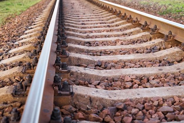 Закройте железнодорожный путь. часть железной дороги