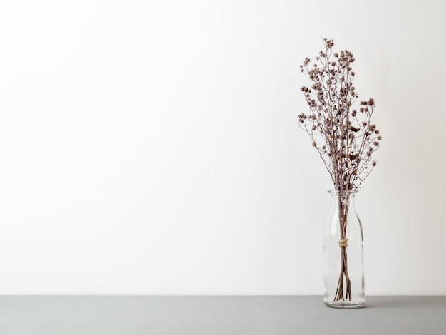 Букет из сухих гипсофиловых цветов для украшения
