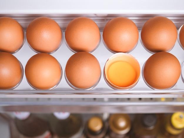 Органическая пища из куриных яиц