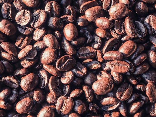ローストタイコーヒー豆のテクスチャ背景