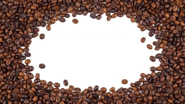 Фон жареных тайских кофейных зерен