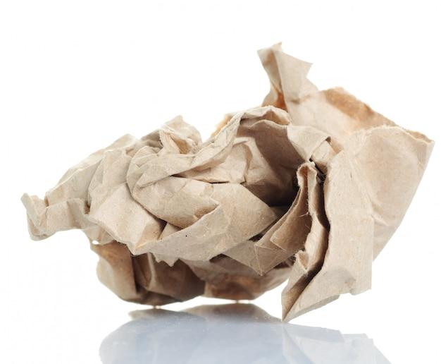 しわくちゃの紙