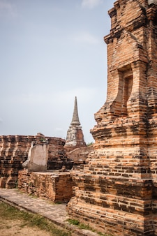 アユタヤ寺院遺跡、ワットマハタットアユタヤ、タイの世界遺産。
