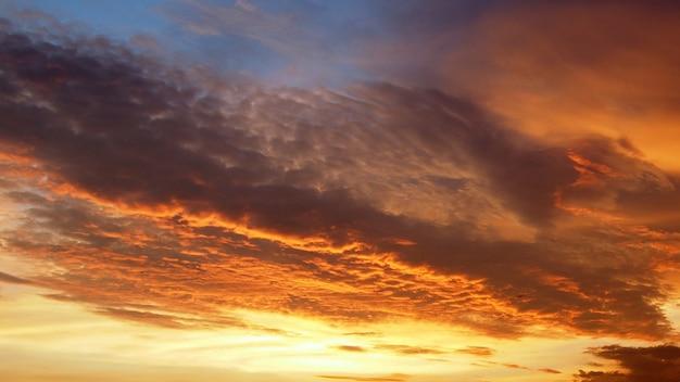 夕焼けの地平線