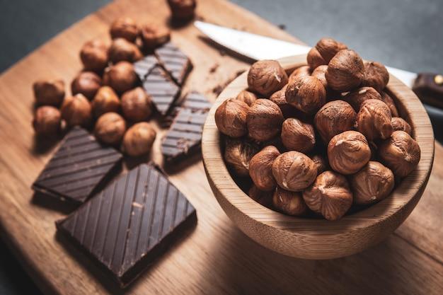 ヘーゼルナッツとブラックチョコレート
