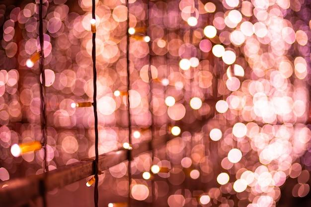 ピンクのボケぼやけて背景ライト