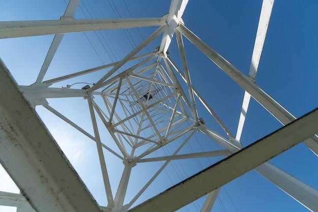 送電鉄塔、下からの眺め