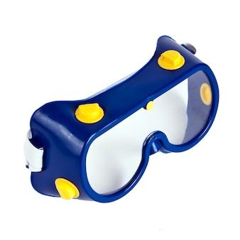 Прозрачные очки безопасны на работе. изолированный