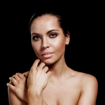 グラマー女性の美しい顔