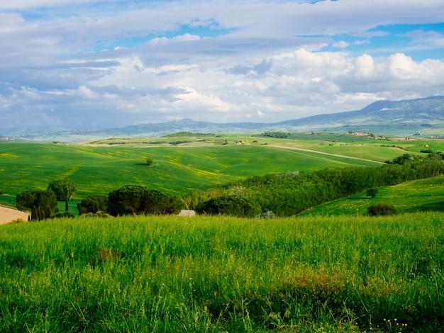 美しいトスカーナ、パノラマ風景 - イタリア