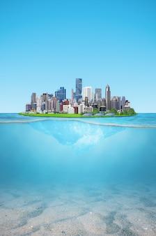 島の街は環境にやさしいです。