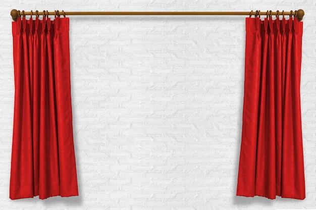 壁にカーテン