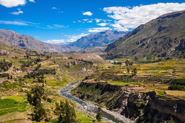 ペルーのコルカ渓谷