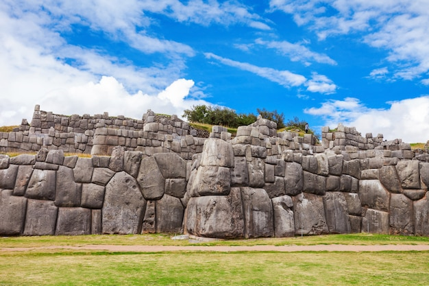 ペルーのクスコのサクサイワマン
