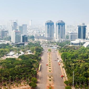 Джакарта с высоты птичьего полета